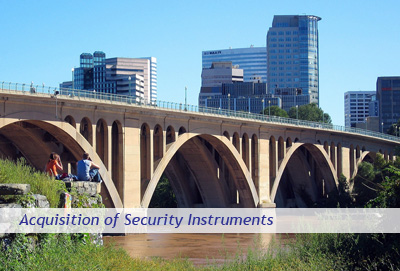 Acquisition of Security Instruments